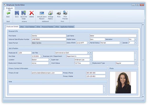 employee records management system Employee form att.png (1029×698) | Payroll Application | Pinterest ...